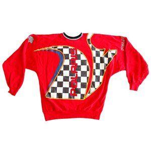 Vintage RARE 90s Polaris Racing Red Sweater  - L